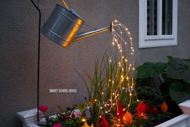vannkanne med lys
